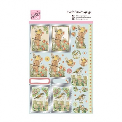 Docrafts Foiled Decoupage - Spring Birds
