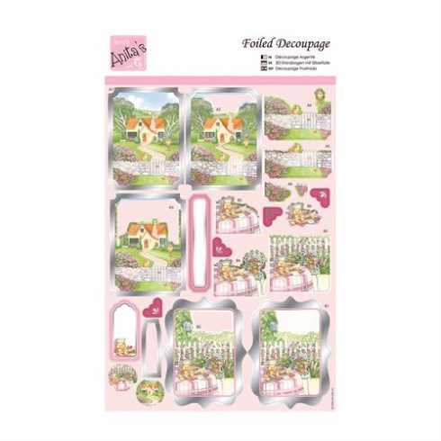 Docrafts Foiled Decoupage - Springtime Cottage