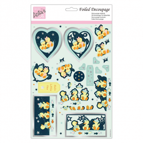 Anitas FOILED DECOUPAGE - STAR QUACKERS