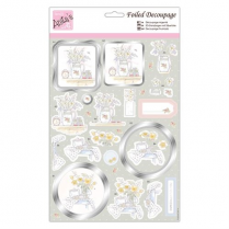 Anitas Foiled Decoupage - Tea and Blooms