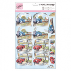 Anitas Foiled Decoupage - Transport