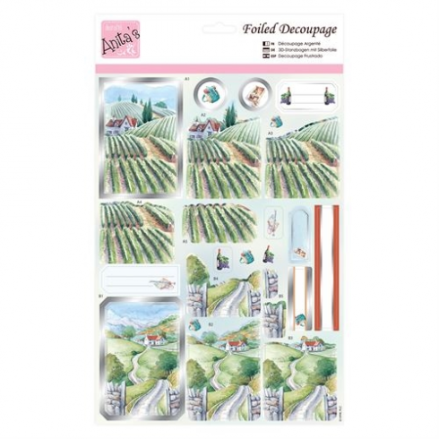 Anitas Foiled Decoupage - Vineyard