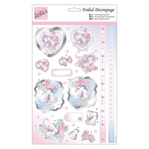 Docrafts Foiled Decoupage - Wedding Bells