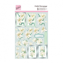 Docrafts Foiled Decoupage - White Lilies