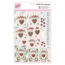 Anitas Foiled Decoupage - With Love