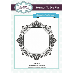 Sue Wilson Fountain Frame Pre cut stamp