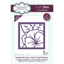 Sue Wilson Frames and Tags Collection Pansy Flower Square