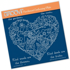 Clarity GARDEN HEART  A5 SQUARE GROOVI PLATE