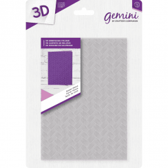 "Crafters Companion Gemini 5"" x 7"" 3D Embossing Folder - Basket Weave"