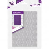 "Crafters Companion Gemini 5"" x 7"" 3D Embossing Folder - Cable Knit"