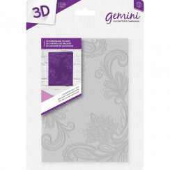 "Crafters Companion Gemini 5"" x 7"" 3D Embossing Folder - Contemporary Lace"