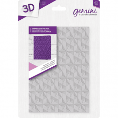 "Crafters Companion Gemini 5"" x 7"" 3D Embossing Folder - Geometric Triangles"