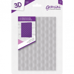 "Crafters Companion Gemini 5"" x 7"" 3D Embossing Folder - Seamless Wave"