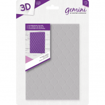 "Crafters Companion Gemini 5"" x 7"" 3D Embossing Folder - Studded Leather"