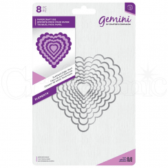 Crafters Companion Gemini Metal Die - Elements - Scalloped Edge Heart