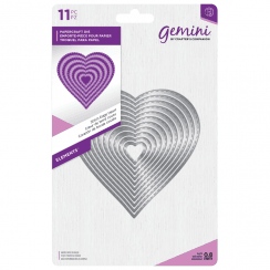 Crafters Companion Gemini Metal Die - Elements - Stitch Edge Heart