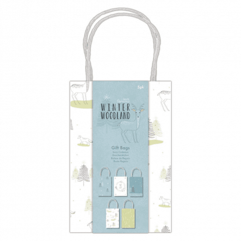 Papermania GIFT BAGS (5PK) - WINTER WOODLAND