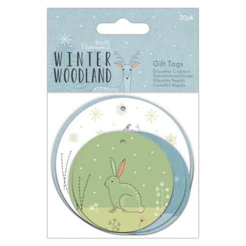 Papermania GIFT TAGS (20PK) - WINTER WOODLAND
