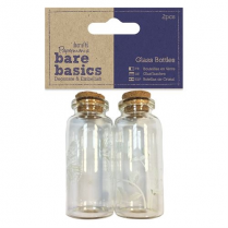 Papermania Glass Bottles (2pcs) - Butterflies - Bare Basics