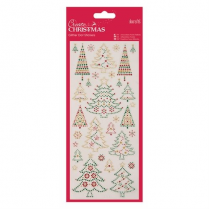 Docrafts Glitter Dot Stickers - Christmas Trees