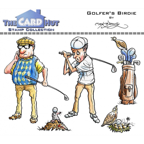 The Card Hut GOLFERS BIRDIE - STAMP SET