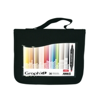 Graph It Alcohol Based Markers - Set of 36 in a wallet