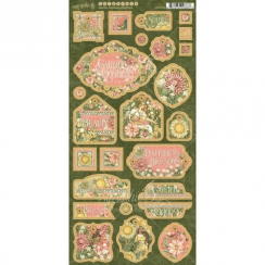 "Graphic 45 6""x12"" Chipboard Die-Cuts Sheet - Garden Goddess G4501755"
