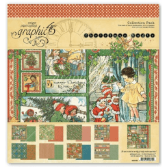 Graphic 45 Christmas Magic 12x12 Inch Paper Collection Pack