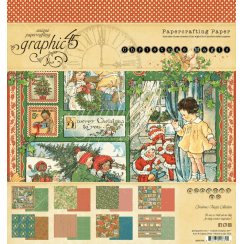 Graphic 45 Christmas Magic 8x8 Inch Paper Pad