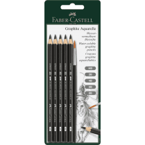 Docrafts GRAPHITE AQUARELLE BLISTER CARD HB 2B 4B 6B 8B)