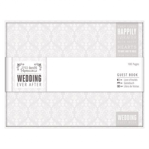 Papermania Guest Book - Wedding - Grey/Wh
