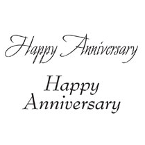 Woodware HAPPY ANNIVERSARY - CLEAR MAGIC JUST WORDS TIDDLER