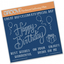 Happy Birthday Groovi Plate A5 Square