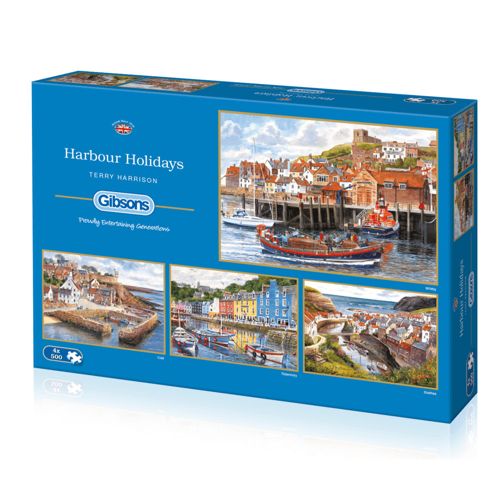 Gibsons Harbour Holidays 4x500pc Puzzle G5052