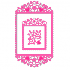 Sweet Dixie Heart & Flowers Frame