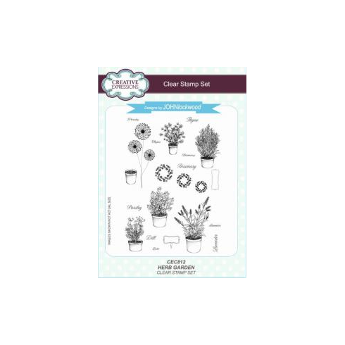 Creative Expressions Herb Garden A5 Clear Stamp Set