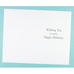 Craft Creations Inserts To Fit 115x178mm Cards - Birthday (Wishing You)