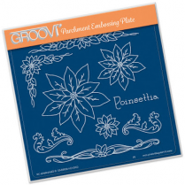 Jaynes Poinsettia Name Groovi Plate A5 Square