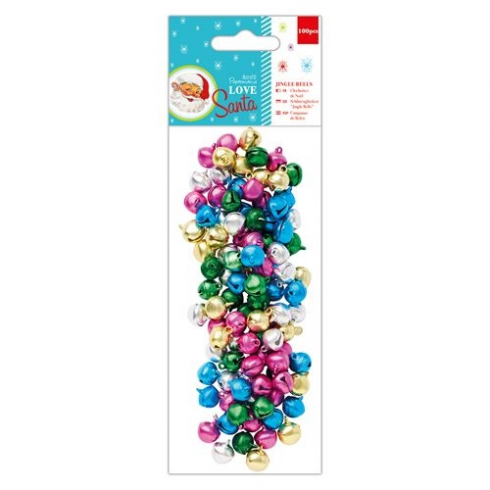 Docrafts Jingle Bells (100pcs) - Love Santa