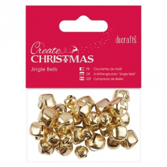 Docrafts Jingle Bells (30pcs) - Gold - Assorted Sizes