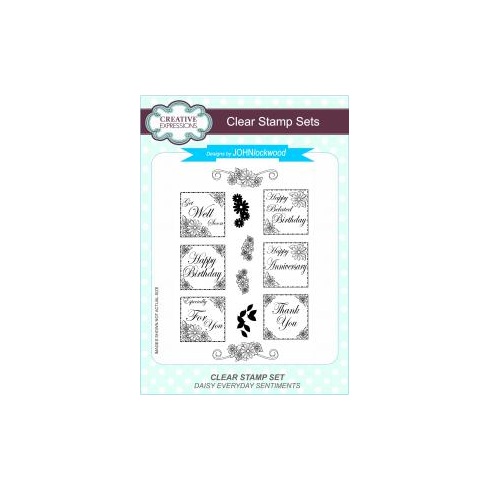Creative Expressions John Lockwood Clear Stamp Set - Daisy Everyday Sentiments