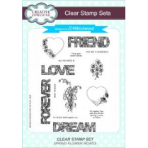 Creative Expressions John Lockwood Clear Stamp Set - Spring Flower Words