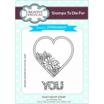Creative Expressions John Lockwood Stamps To Die For - Daisy Heart