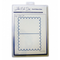 John Next Door Card Base Dies - Large Scallop Card