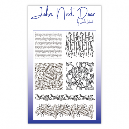 John Next Door Clear Stamp - Christmas Textures 6 pcs