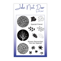 John Next Door Clear Stamp - Circle Leaves 16 pcs