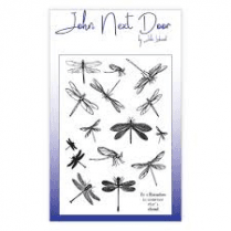 John Next Door Clear Stamp - Dragonflies