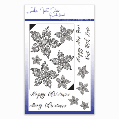 Crafts Too John Next Door Clear Stamp - Swirl Poinsettia