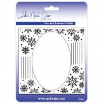 John Next Door Cut and Embossing Folder - Snowflake Swirl