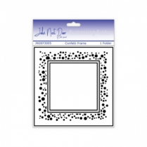 John Next Door Embossing Folder - Confetti Frame